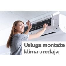 Usluga montaže klima uređaja (Korel, Midea, Samsung, LG, Vivax, Toshiba i Panasonic) za uređaje do 5kW