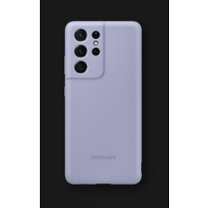 Silikonska maska za Samsung Galaxy S21 Ultra ljubičasta EF-PG998TVEGWW