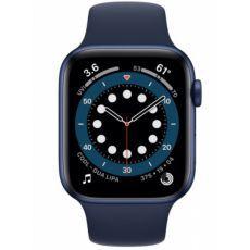 Apple Watch S6 GPS, 44mm Blue Aluminium Case with Deep Navy Sport Band - Regular