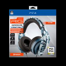 RIG 400HS cammo blue službene Sony Offiicial stereo headset for PS4™/PS5™ žičane gaming slušalice