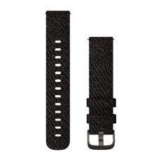 Zamjenski remen Garmin za vivomove3S/3/Style 20mm - Black Pepper Nylon (siva kopča)
