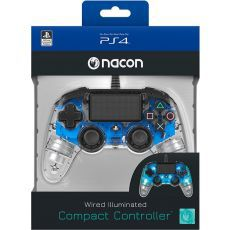Bigben PS4 Nacon Compact Light Wired Controller prozirno-plavi