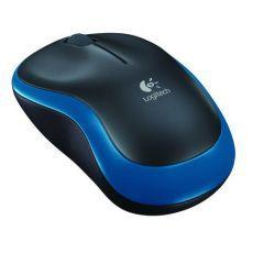 Logitech bežični optički miš M185 plavi