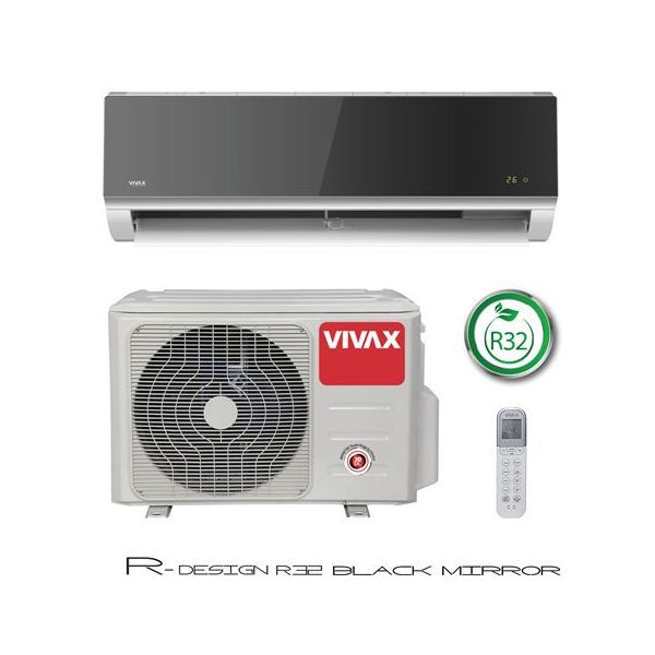 Klima uređaj Vivax ACP-12CH35AERI R32 Cool R DESIGN inverter, silver mirror, komplet