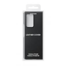 Premium kožna maska za Samsung Galaxy Fold2 crna EF-VF916LBEGEU