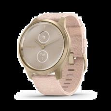 Pametni fitness sat Garmin vivomove Style Light Gold Blush Pink Nylon