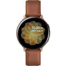 Sat Samsung Galaxy Watch Active 2 44mm zlatni čelik smeđi kožni remen SM-R820NSDASEE