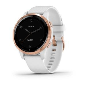 Fitness Garmin Vivoactive 4S Rose Gold bijeli remen
