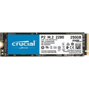 SSD 250GB M.2 80mm PCI-e 3.0 x4 NVMe, 3D QLC, CRUCIAL P2