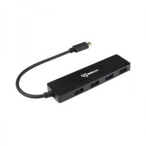 SBOX USB RAZDJELNIK H-404C / TYPE-C -> USB-3.0 4 Ulaza