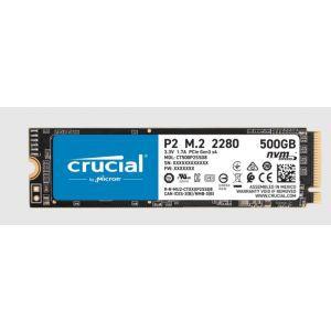 SSD 500GB M.2 80mm PCI-e 3.0 x4 NVMe, 3D QLC, CRUCIAL P2