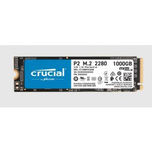 SSD 1TB M.2 80mm PCI-e 3.0 x4 NVMe, 3D QLC, CRUCIAL P2