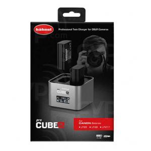Hähnel ProCube 2 Twin Charger DSLR punjač za Canon -kompatibilne baterije LP-E6, LP-E8, LP-E17