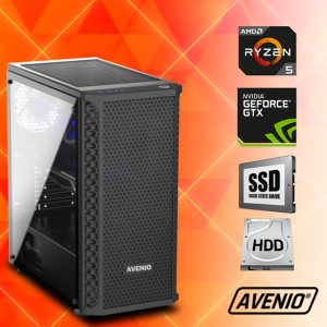 Računalo Avenio TopGamer AMD Ryzen 5 3400G 3.70GHz 8GB 240GB SSD + 1TB HDD FreeDOS nVidia GeForce GTX 1650 SUPER 4GB GDDR6