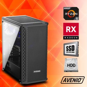 Računalo Avenio TopGamer AMD Ryzen 5 3400G 3.70GHz 8GB 240GB SSD + 1TB HDD FreeDOS AMD Radeon RX 5500 XT 4GB GDDR6