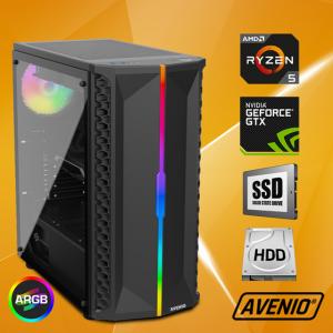 Računalo Avenio OptiGamer AMD Ryzen 5 3400G 3.70GHz 16GB 480GB SSD + 1TB HDD FreeDOS nVidia GeForce GTX 1660 SUPER 6GB GDDR6