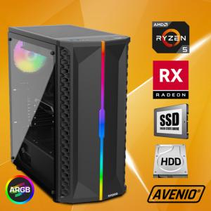 Računalo Avenio OptiGamer AMD Ryzen 5 3600 3.60GHz 16GB 480GB SSD + 1TB HDD FreeDOS AMD Radeon RX 5600XT 6GB GDDR6
