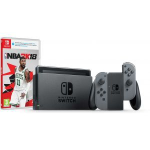 Nintendo Switch Console - Grey Joy-Con HAD + NBA 2K18 Switch