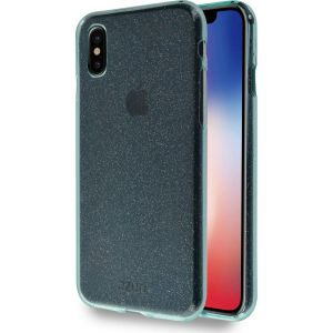 Azuri maskica flexible glitter cover bluegreen for iPhone X