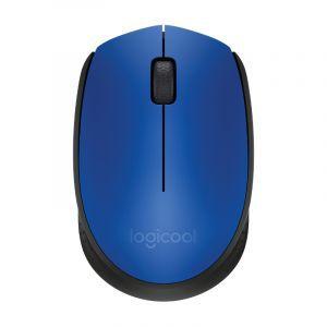 Logitech bežični optički miš M171 plavi