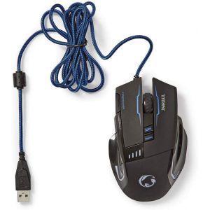 Nedis GMWD300BK, gaming miš, osvjetljenje, 4000DPI, 8 gumbi