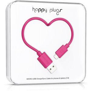Happy Plugs Micro Usb kabel 2.0m cerise
