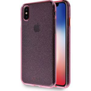 Azuri maskica flexible glitter cover rose/red  for iPhone X