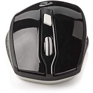 Nedis bežićni miš, 800/1200/1600 DPI, 6 gumbiju, crno/bijeli MSWS300WT