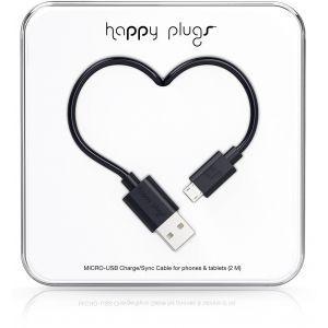Happy Plugs Micro Usb kabel 2.0m crni