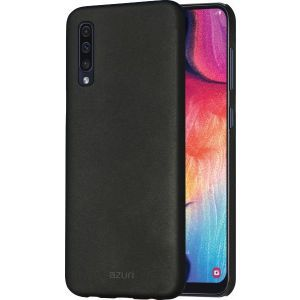 Azuri maskica metallic cover with soft touch coating black Samsung A50