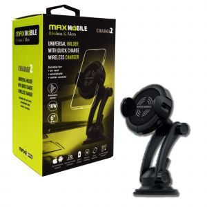 Maxmobile držač za mobitel charge QC 3.0 bežično punjenje, Vent + vacuum