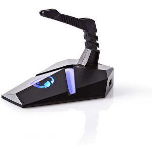 Nedis gaming miš bungee, fleksibilna hvataljka, 3XUSB, svjetla GMBEU3100BK