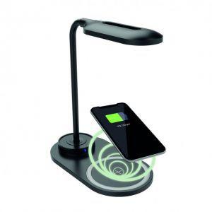 KSIX energetska stolna lampa sa brzim bežičnim punjačem 7.5W-10W