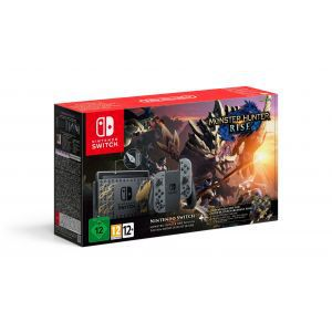 Nintendo Switch Console - Grey Joy-Con Monster Hunter Rise Limited Edition Bundle