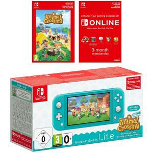 Nintendo Switch Lite Console - Turquoise Animal Crossing & 3M NSO Limited Edition