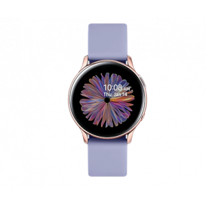 Sat Samsung Galaxy Watch Active 2 40mm zlatno rozi aluminij ljubičasti silikonski remen SM-R830NADASEE