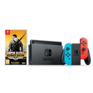 Nintendo Switch Console - Red & Blue Joy-Con HAD + Sniper Elite III Ultimate Edition Switch