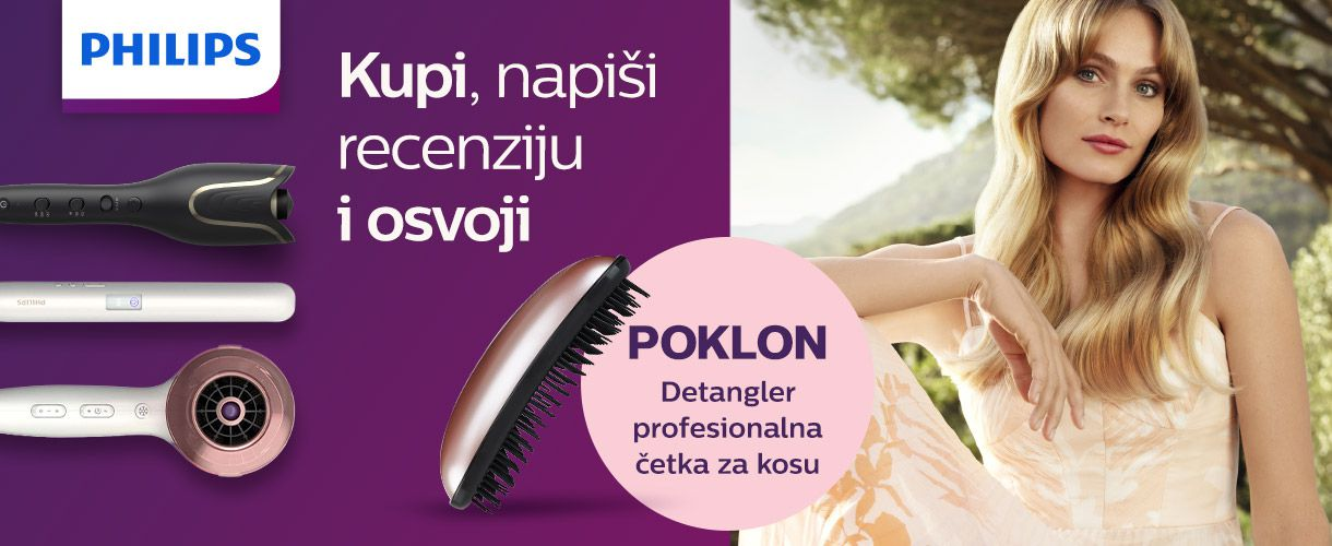 Nagradni natječaj - Kupi i recenziraj odabrane Philips uređaje i osvoji gratis Detangler četku za kosu!