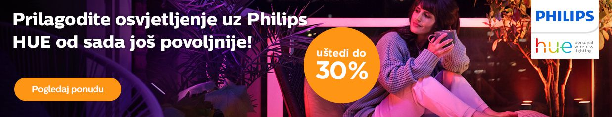 Do 30% popusta na Philips HUE rasvjetu!