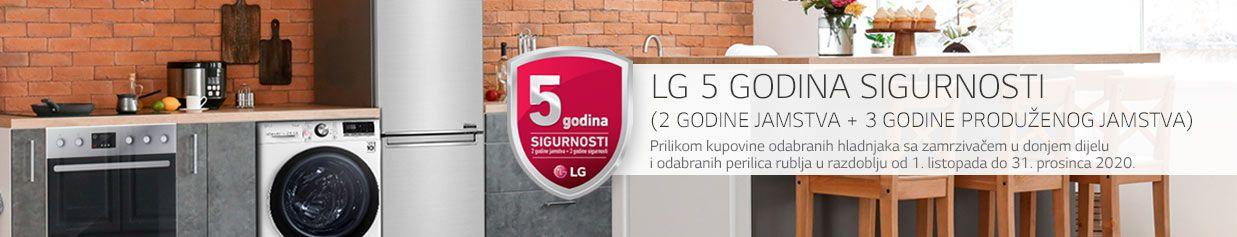 Olakšajte si život uz 5 godina sigurnosti na odabrane LG hladnjake i perilice rublja.