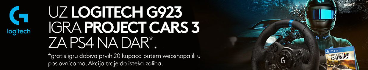 Uz Logitech G923 igra Project Cars 3 za PS4 na dar