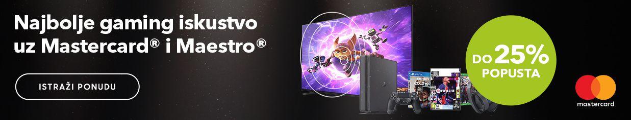 Najbolje gaming iskustvo  uz Mastercard® i Maestro®