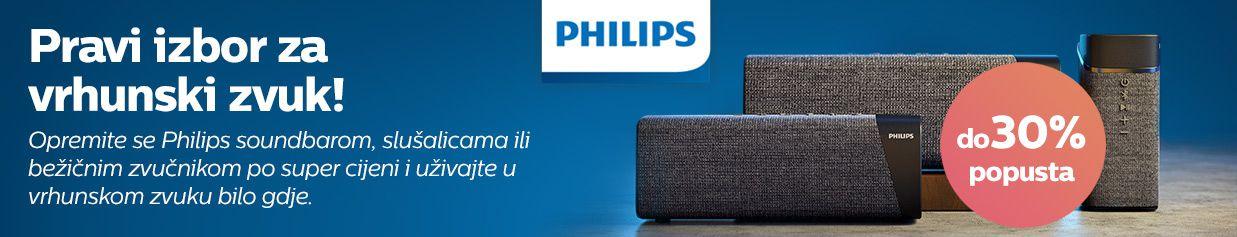 20% popusta na izdvojenim Philips audio uređajima