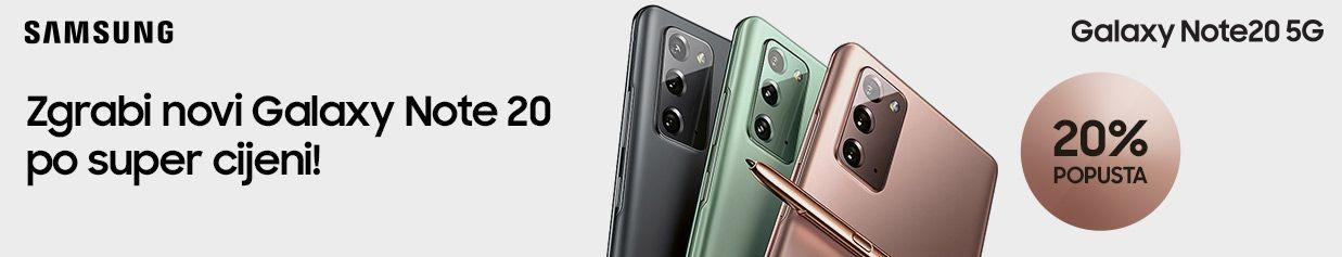Zgrabi novi Galaxy Note20 po super cijeni!