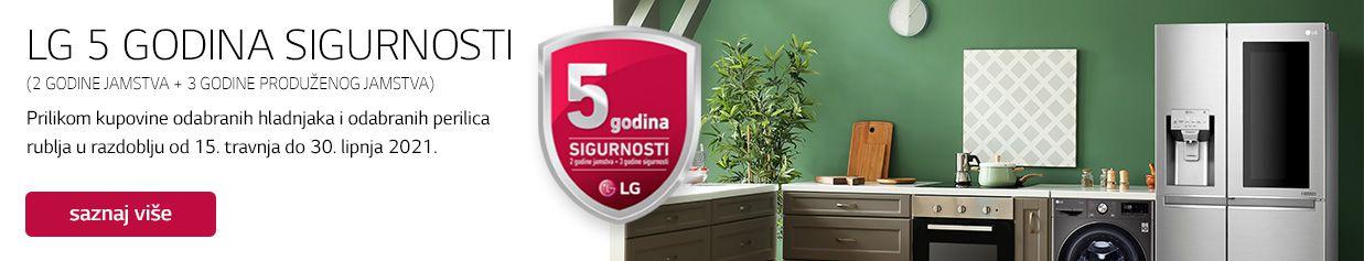 5 godina sigurnosti na izdvojene LG hladnjake i perilice rublja