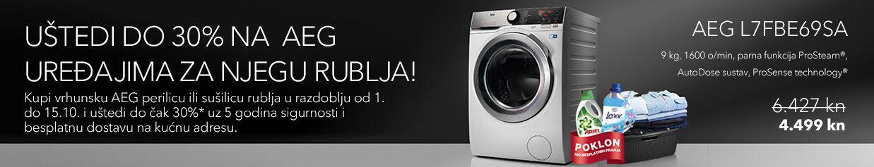 Uštedi do 20% na vrhunskim AEG uređajima za njegu rublja!