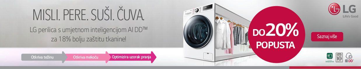 Uštedi do 20% na LG kominiranim perilicama i sušilicama rublja!