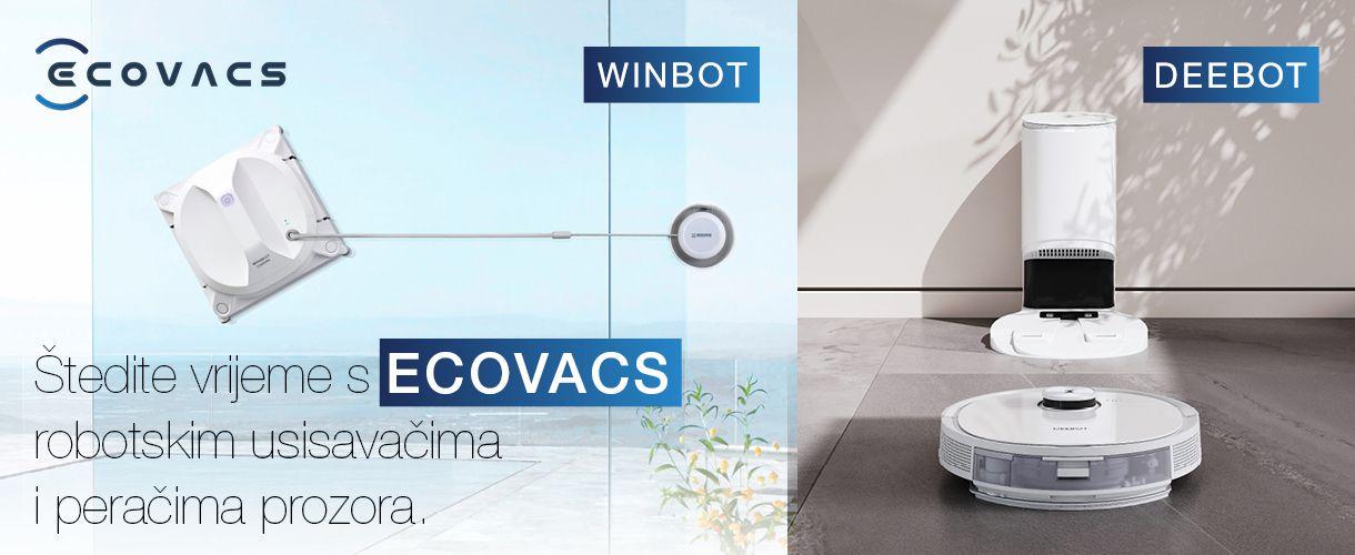 Ecovacs robotski usisavači i perači prozora na akciji