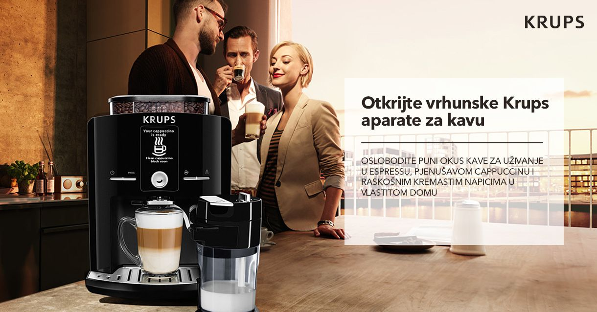 Otkrijte vrhunske Krups aparate za kavu