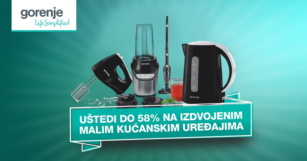 Gorenje mali kućanski uređaji na akciji
